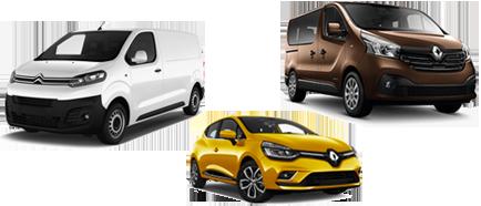 Image de trois véhicules